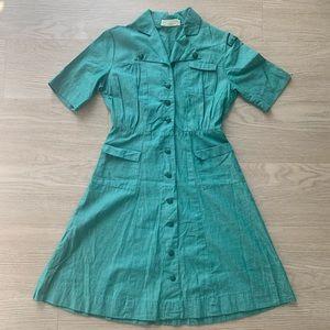 Vintage 1940s Girl Scout Uniform Green Dress